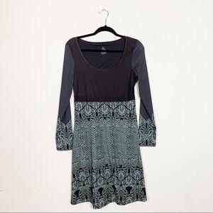prAna Holly Long Sleeve Dress Mandala Print Medium